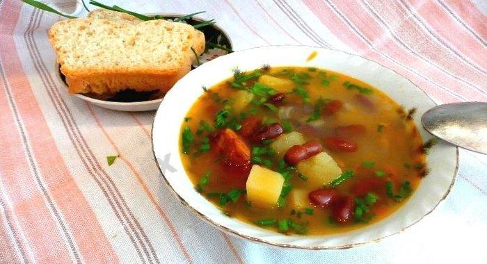 Приготовить суп фасолевый в мультиварке