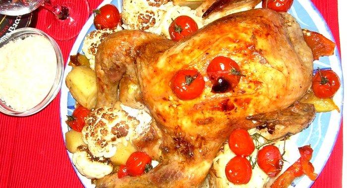 Печеная курица рецепт пошагово