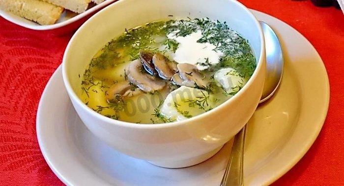 рецепт супа крем супа из шампиньонов с картошкой