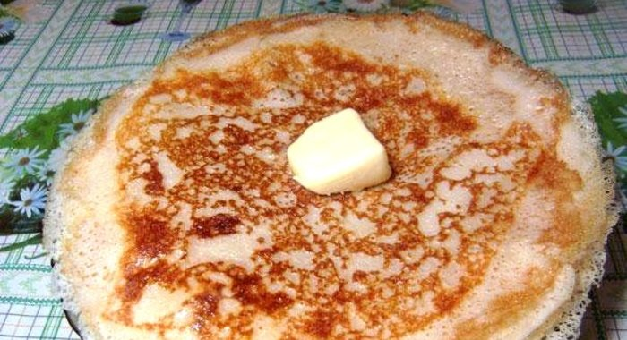 Рецепт ажурных блинчиков на молоке с дрожжами