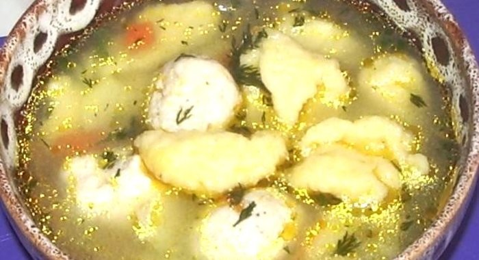 Рецепт супа с клецками с пошаговым фото в мультиварке