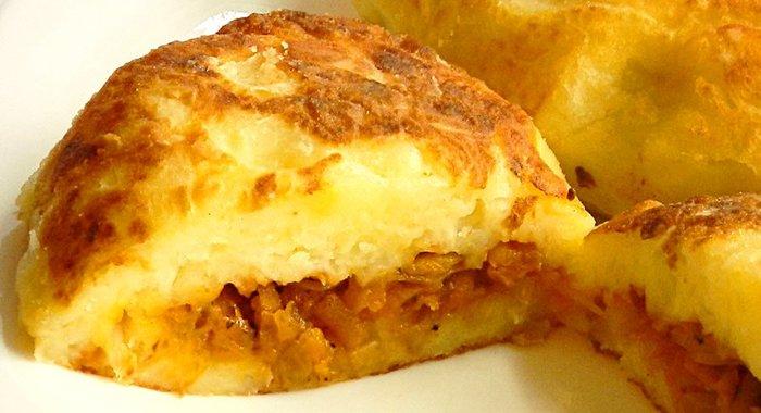 Зразы картофельные с капустой пошаговый рецепт