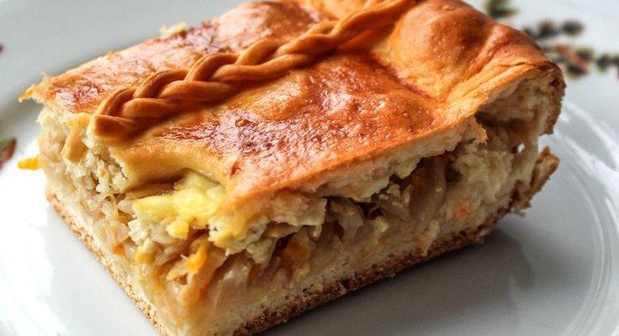Пирог с капустой и яйцом пошагово с фото