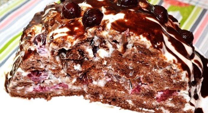 Торт панчо с вишней рецепт с фото