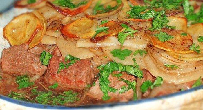 Запеканка с картофелем и мясом рецепт пошаговый