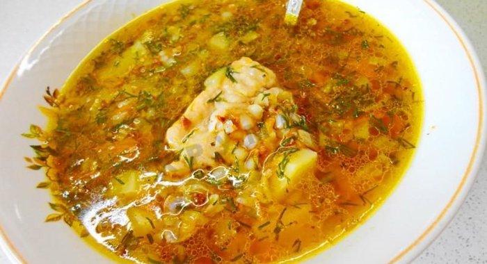 Суп из гречки в мультиварке