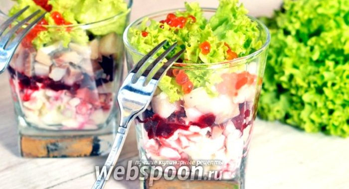 Легкие порционные салаты рецепты с простые и вкусные