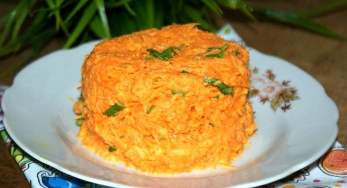 салат из сырой моркови и яблок фото