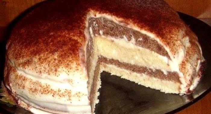 Простой пирог на кефире пошаговый рецепт