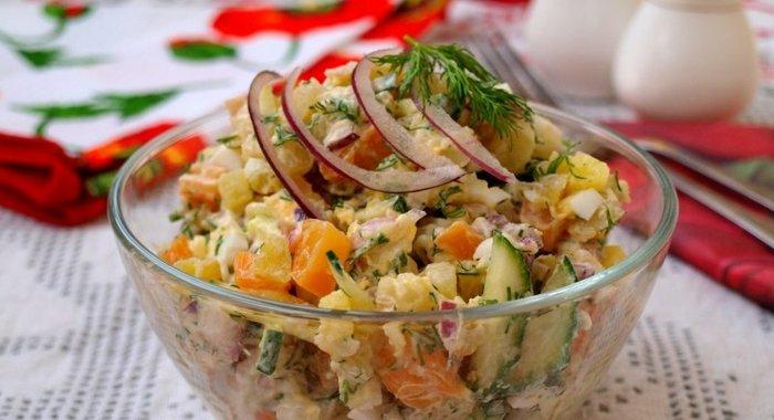 Быстрый салат с кальмарами рецепт 41