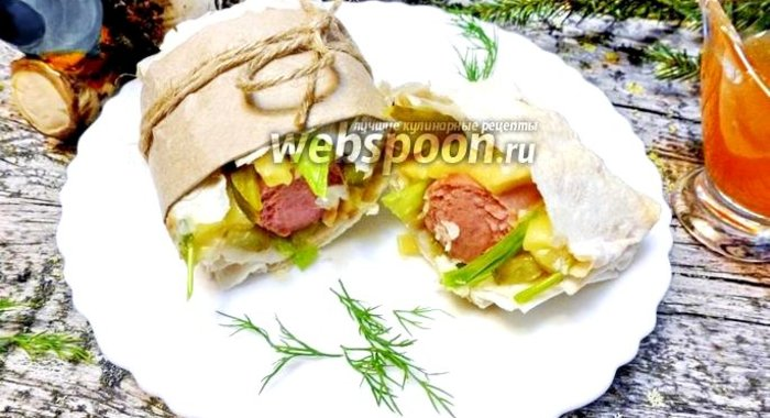 Рецепт хот дога с лавашем