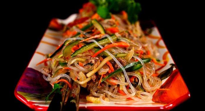 Еда салат из фунчозы рецепт