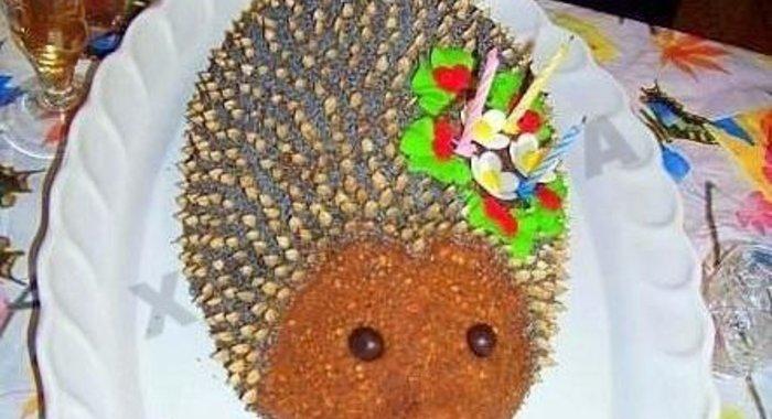 Торт ежик рецепт пошаговый с фото