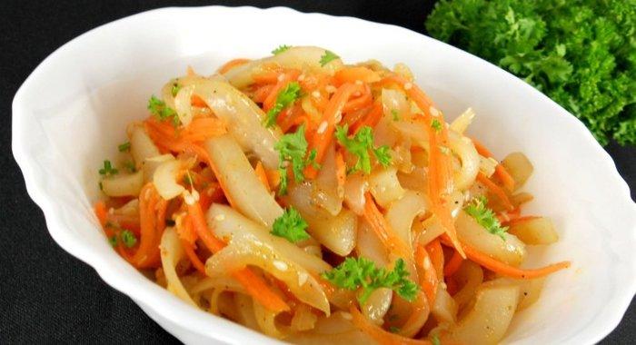 Кальмары по-корейски рецепт в домашних условиях