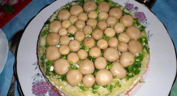 Вторые блюда салаты с фото грибная полянка