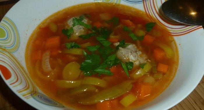 Суп томатный с фрикадельками рецепт пошагово с фото