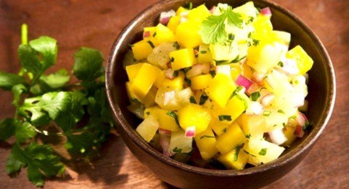 Салат с ананасами и чесноком рецепт с пошагово