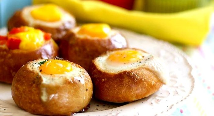 Рецепт завтрака в батоне