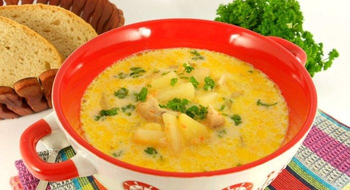 Суп сырный с курицей пошаговый фото рецепт пошаговый